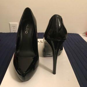 Women's also stilettos black patten size 7